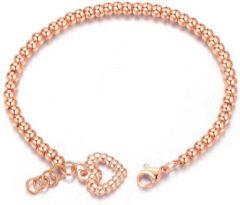 Roze Cilla Jewels Dames Armband Kraalvormig met Hart Rose