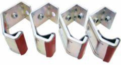 Zilveren Bobike montage klemmen (4) spec. dragers EB-D 8015300200