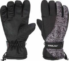 Zwart/witte wintersport handschoenen Starling Mirre met Thinsulate vulling voor kinderen 6 (164)