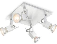Home sweet home LED opbouwspot Cali 4 lichts ↔ 22 cm - aluminium