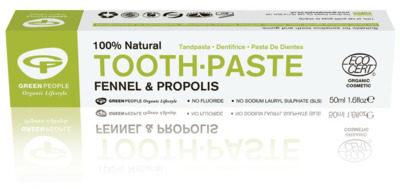 Afbeelding van Groene Green People Tandpasta fennel & propolis 50 Milliliter