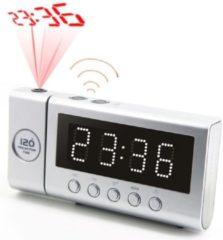Soundmaster FUR6100SI wekkerradio met projectieklok FM DCF zilver