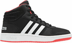 Rode Adidas Hoops Mid 2.0 K Kinderen Sneakers - Core Black/Ftwr White/Hi-Res Red S18 - Maat 35
