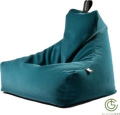 Blauwe Extreme Lounging b-bag mighty-b Indoor Suede-Teal blue