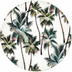 Beige Moodadventures | Muismatten | Muismat Rond Vintage California Palmtrees | 20x20