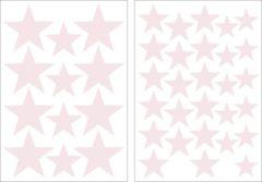 Art for the Home - Muurstickers Sterren - Lichtroze - 6 x 25x17,5cm