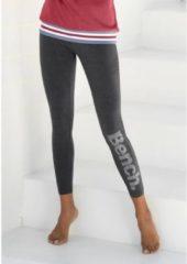 Grijze Bench. legging met logoprint in metaal-look