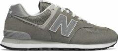 Grijze New Balance ML574 sneaker met suède details