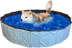De Huisdiersuper.nl De Huisdiersuper Hondenzwembad - 80 x 80x 20 cm - Blauw