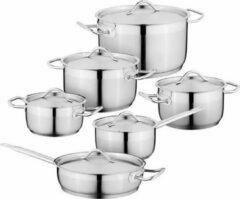 12-delige kookpannenset, Zilver - Roestvrij staal - BergHOFF|Essentials Line