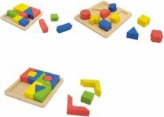Playwood geometrische vormen leren tangram blokpuzzel u krijgt geleverd 3 puzzels