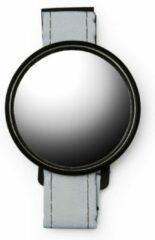 Grijze Kikkerland Polsreflector - Ideaal voor op de fiets - Inclusief spiegel met klittenband - Fietsaccessoires