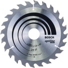 Cirkelzaagblad Optiline Wood, 180 x 30/20 x 2,6 mm, 24 Bosch Accessories 2608640608 Diameter:180 mm Aantal tanden:24 Dikte:2.6 mm