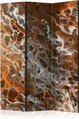 Grijze Kamerscherm - Scheidingswand - Vouwscherm - Brown Craters [Room Dividers] 135x172 - Artgeist Vouwscherm