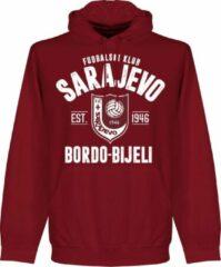 Retake FK Sarajevo Established Hoodie - Bordeaux Rood - XXL