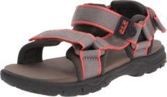 Grijze Jack Wolfskin Kids Seven Seas 3 Outdoorsandalen - Blue Orange - Maat 27