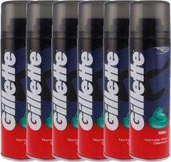 6x200ml Gillette Basic Scheergel Regular Voordeelverpakking