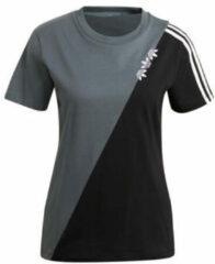 Zwarte Adidas 3-Stripes trainings T-shirt met logoborduring