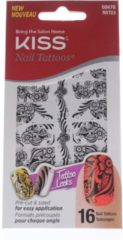 Zwarte Kiss products Kiss- Nail Tattoo waterdecals NST03