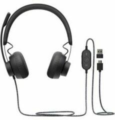 Zwarte Logitech Zone Wired UC – USB Headset – USB-A/USB-C