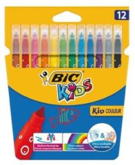 Viltstift Bic 217 kid couleur 750 assorti medium etui à 12st