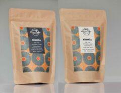 Tanza Coffee Aranga Proefpakket | Giftset | Cadeaupakket | Koffiepakket | Biologische Vers Gebrande Koffiebonen | Tanzania Single Origin | Specialty Koffie | 500 Gram