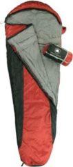 10-T Outdoor Equipment 10T Schlafsack Yukon XL -3° warm weich 1400g leicht Mumienschlafsack 230x85 Rot/Schwarz 125g/m²