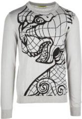 Grigio Versace Jeans Maglione maglia uomo girocollo tiger jacquard