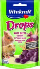 Vitakraft Knaagdier Drops - Knaagdiersnack - Rode Biet Lactose Vrij