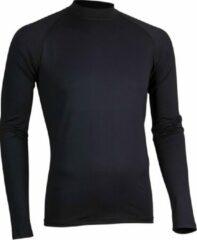 Zilveren Avento Shirt Base Layer Lange Mouw - Mannen - Zwart - Maat XL
