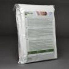 Gebroken-witte Sanamedi Q-Allergie Matrashoes 180x220x25 cm - anti-allergie