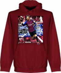 Bordeauxrode Retake Messi Barcelona Comic Hoodie - Bordeaux - L