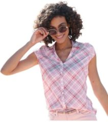 Paarse Casual Looks geruite blouse