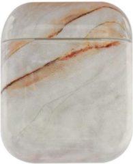 GSMpunt.nl Apple AirPods Hard Plastic Hoesje met Marmer Print Wit / Bruin