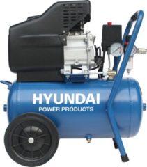Hyundai Power Products Hyundai compressor 24 liter met vochtafscheider - 8 BAR - 66dB - 180 liter/minuut - 2PK - 1500W
