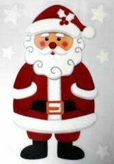 Peha Raamsticker Kerstman 28,5 X 40 Cm Pvc Rood/wit