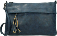 Beagles Clutch / Schoudertas Navy Blauw