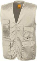 Result Outdoor/werk bodywarmer beige voor heren - Outdoorkleding/werkkleding - Mouwloze vissers/tuinier vesten XL (44/54)