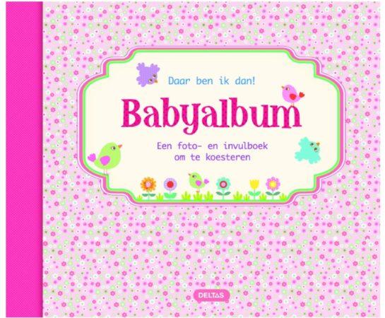 Afbeelding van Deltas Centrale uitgeverij Daar ben ik dan babyalbum roze
