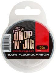 Transparante Fox Rage Drop 'n' Jig Fluorocarbon - Onderlijnmateriaal - 0.22mm - 3.53kg