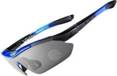 Falkann Basics Fietsbril / Sportbril Set Blauw 5 Glazen inc. Gepolariseerde