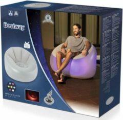 Grijze Bestway Opblaasbare Lounge Stoel met LED verlichting