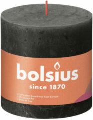 Grijze Bolsius kaars rustiek Stormy Grey 100/100 mm