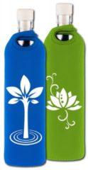 Flaska Trinkflasche Neo Design 0,75 L Yogistar blau - Baum des Lebens