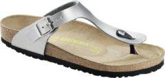 Zilveren Birkenstock Gizeh Dames Slippers Regular fit - Silver - Maat 39