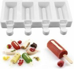 MTCE Sicklepop Mold Magnum Siliconen Bakvorm - Popsickle - Magnums Maker - Ijs Maker - Ijs mold - Chocoladevorm - Bakvormen - Siliconen mal - Kleur Wit
