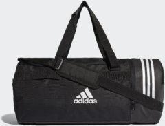 Zwarte Sporttassen adidas Convertible 3-Stripes Duffeltas Medium