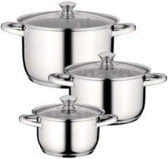 Zilveren BergHOFF Essentials 6-delige kookpottenset Gourmet inox
