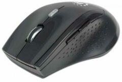 Manhattan 179386 RF Draadloos Optisch 1600DPI Zwart Ambidextrous muis