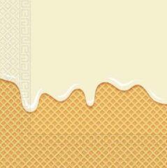 Procos Servetten Druipend Ijs 33 X 33 Cm Papier Geel 20 Stuks